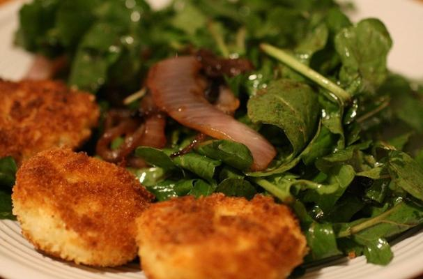 Foodista | Meatless Monday: Fried Goat Cheese Salad