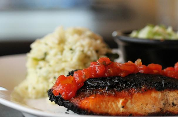 blackened salmon with fruit salsa