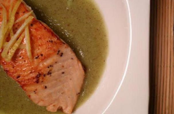 Sockeye Salmon on Kiwi and Lemon Puree