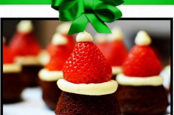 Santa Hat Brownie
