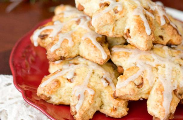 Eggnog Cinnamon Chip Scones