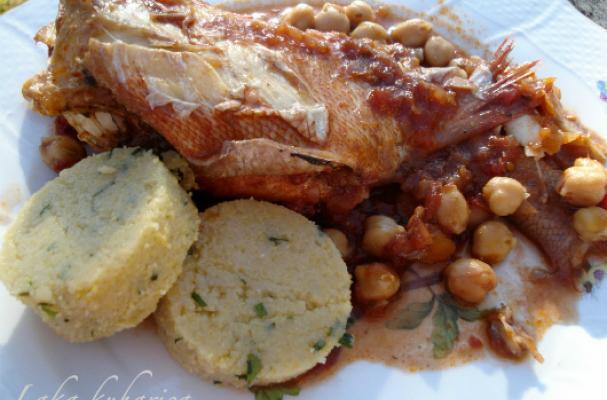 Fish with polenta