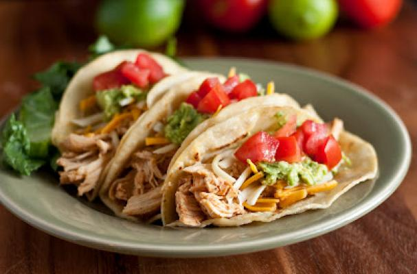 Foodista Budget Friendly Eats Slow Cooker Shredded Chicken Tacos