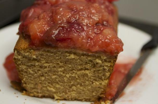 Spiced Pound Cake with Chai Tea Plums