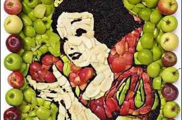 foodista amazing snow white apple art