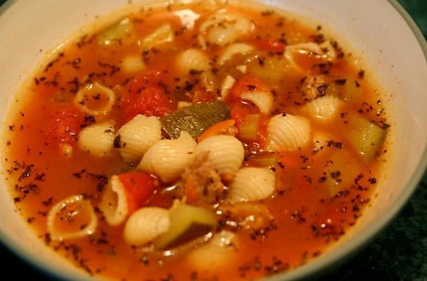 Foodista | Daylight Savings Time Soup with Sausage and White Beans