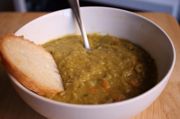 Foodista Slow Cooker Vegetarian Split Pea Soup