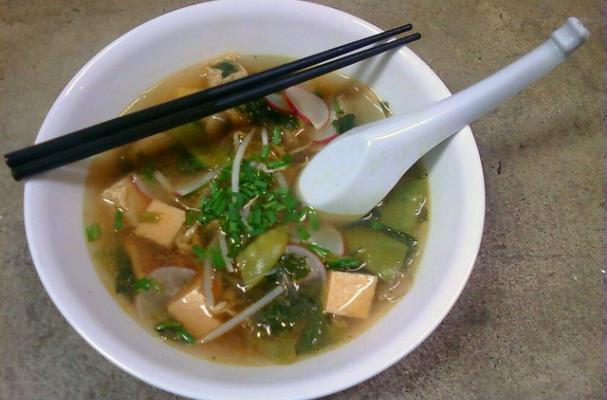 Meatless Monday: Asian Vegetable Noodle Soup