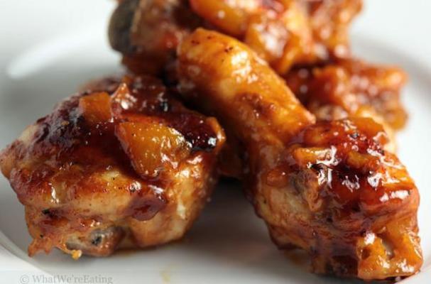 Super Easy Sriracha-Peach Chicken Wings