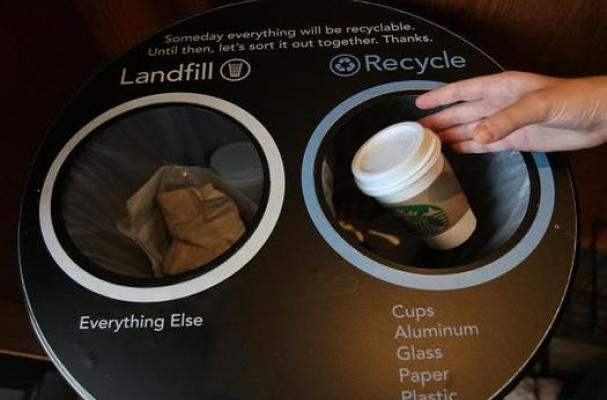Starbucks Recycles Coffee