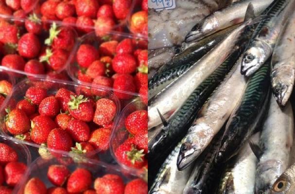 crazy wine pairings strawberries sardines sparkling rosé