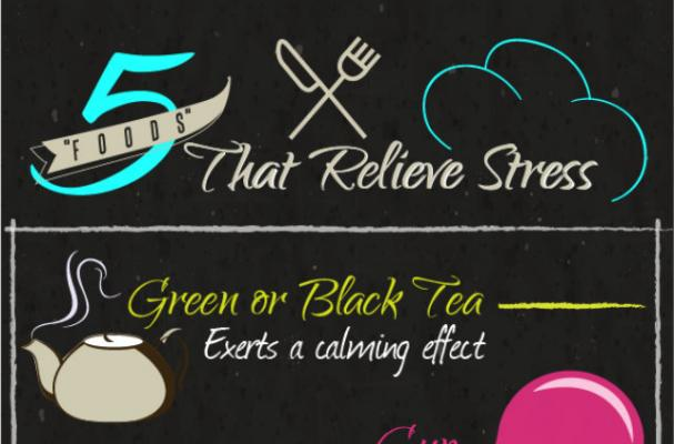 Infographic: De-Stress With the Help of These 5 Foods
