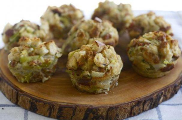 Italian Sausage, Fennel and Pear Stuffing Muffins