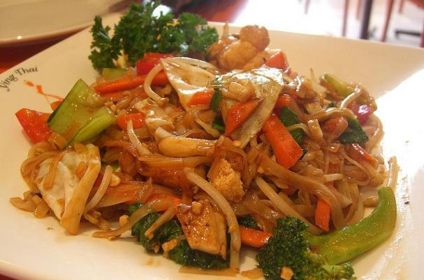 Pad Thai Noodles Vegetarian Recipe This vegetarian pad thai