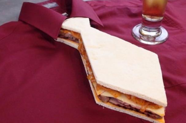 Father's Day tie sandwich