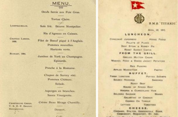 Titanic Menu Sells for $160,000