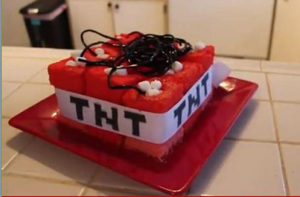 Foodista Make Your Own Minecraft Tnt Cake