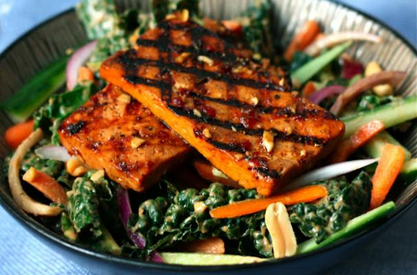 Foodista Spicy Grilled Tofu And Kale Salad