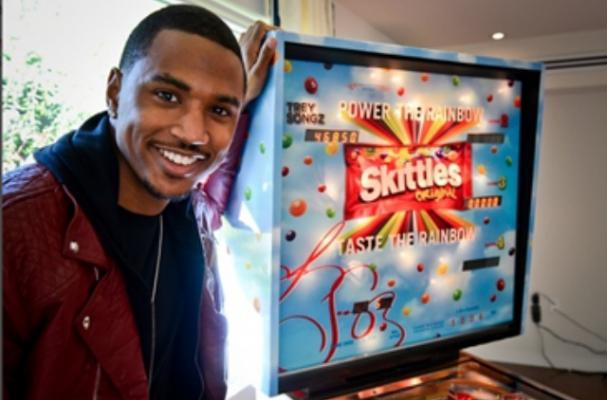 Trey Songz Gets a Skittles Pinball Machine