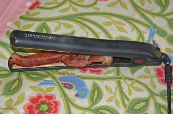 Cook Bacon with Your Hair Straightener
