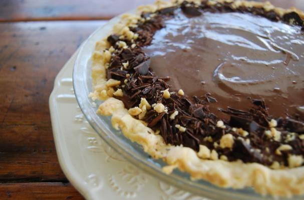 Vegan Chocolate Banana Pie