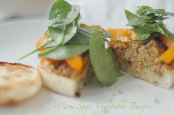 Warm Sage Vegetable Burgers