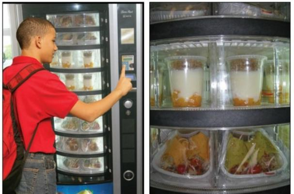 Celebrity Chefs Help Unveil Healthy School Vending Machines
