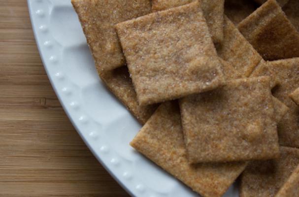 Homemade Honey Wheat Thins