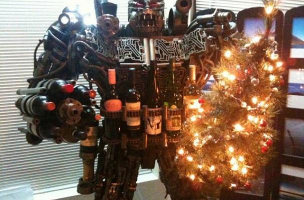 Transformer Wine Rack