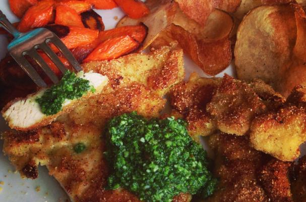 ... Cooking Tips, and Food News | Cornmeal Crusted Chicken with Kale Pesto