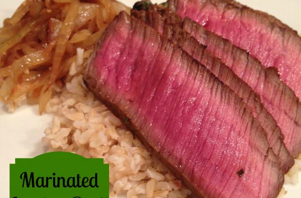 Bourbon Soy Marinated London Broil Recipe — Dishmaps