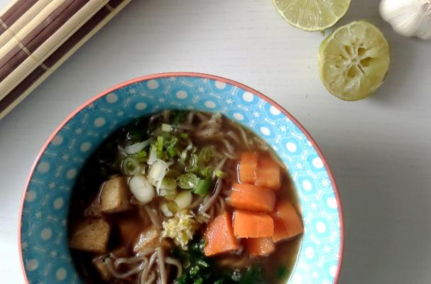 how to cook soba noodles soup