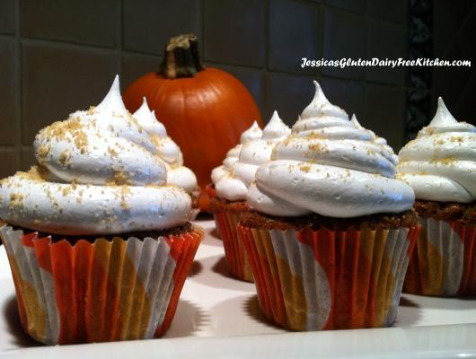 Gluten-free Dairy-free Pumpkin Spice Cupcakes