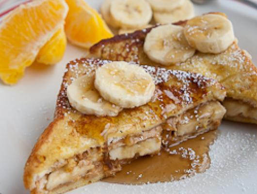 Foodista Recipes Cooking Tips And Food News Peanut Butter Banana French Toast