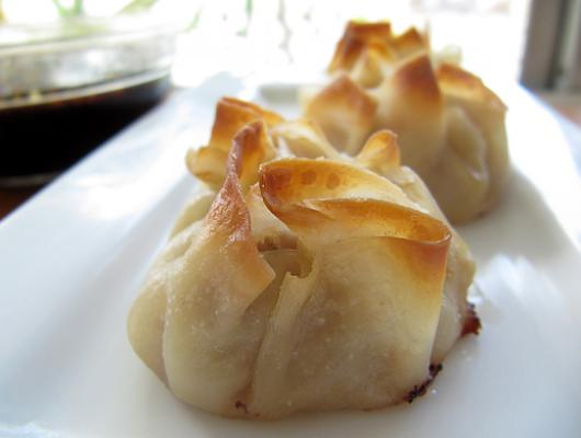 Foodista Recipes Cooking Tips And Food News Baked Pork Flower Dumplings With Soy Ginger