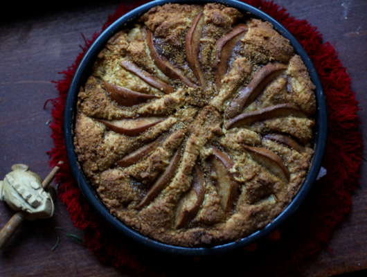Gluten Free Winter Spiced Pear Cake