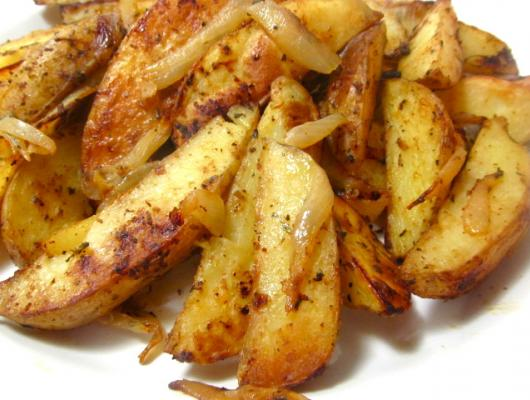 ... Recipes, Cooking Tips, and Food News | Baked Potato Wedges with Onions