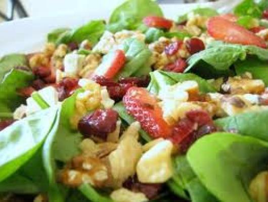 foodista recipes cooking tips and food news fruit and spinach salad with xocai activ. Black Bedroom Furniture Sets. Home Design Ideas