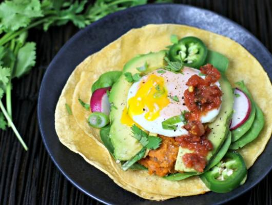 Bean and Sweet Potato tacos