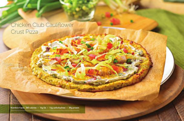 Chicken Club Cauliflower Crust Pizza