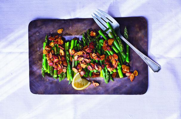 Asparagus with Turmeric-Spiced Almonds