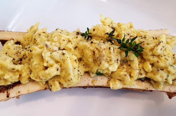 Keto Bone marrow scrambled eggs
