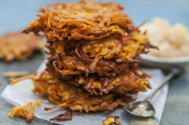 Sweet Potato Pear Latkes