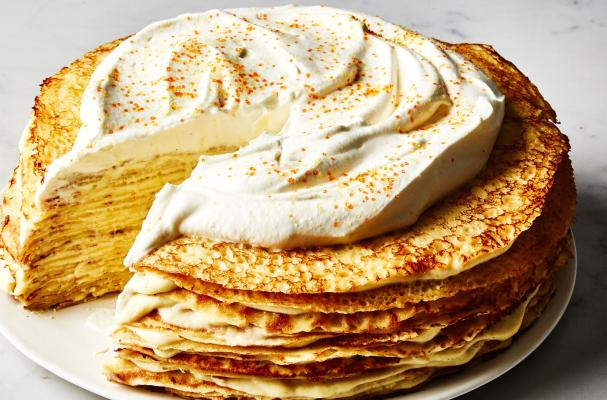 Crepe Cake with Cardamom