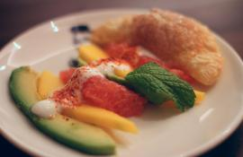 Avocado, Mango and Grapefruit Salad with Yogurt Agave Dressing