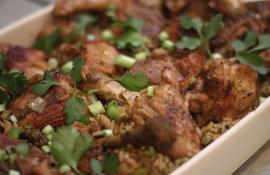 Arroz con Pato: Peruvian-style Duck with Rice
