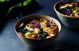 Green Tea Shiitake Mushroom Miso Soup