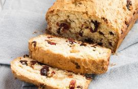 Vanilla Cranberry Quick Bread
