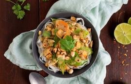 Coconut Curry Tofu Noodle Bowl