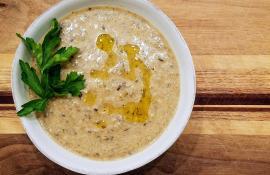 Roasted Cream of Mushroom Soup